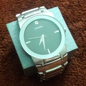 Men's Fossil silver watch